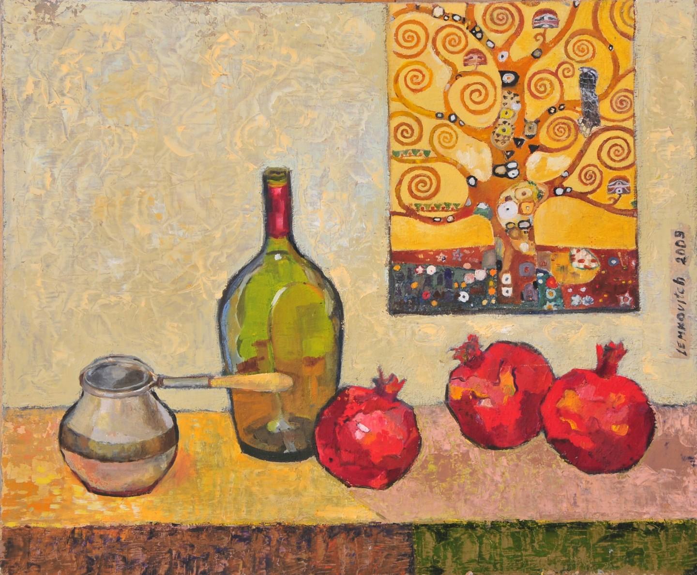 Lubalem - Still Life with a copy of Klimt