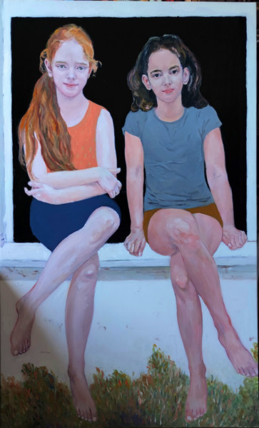 Portrait of girls Lia and Hava