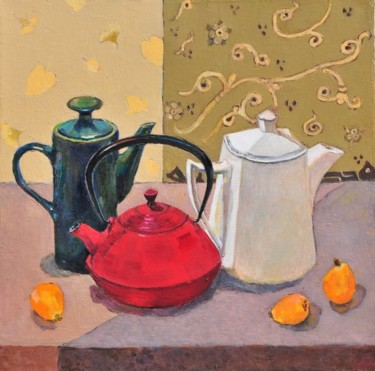 Still life with teapots